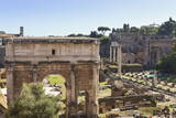 Elevated View from Behind the Capitol of the Arch of Septimius Severus in the Forum  Rome  Lazio