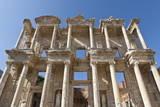 Facade of the Library of Celsus  Roman Ruins of Ancient Ephesus  Near Kusadasi