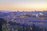 View of Jerusalem from the Mount of Olives  Jerusalem  Israel  Middle East