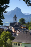 Elevated View over Parish Church and St Wolfgang  Wolfgangsee Lake  Flachgau