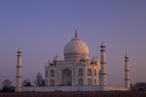 Taj Mahal North Side Viewed across Yamuna River at Sunset  Agra  Uttar Pradesh  India  Asia