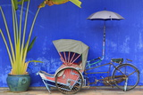 Rickshaw in Cheong Fatt Tze Mansion  Georgetown  Penang Island  Malaysia  Southeast Asia  Asia