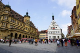 The Market Square in Rothenburg Ob Der Tauber  UNESCO Romantic Road  Franconia
