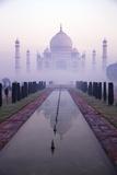 Taj Mahal at Dawn  UNESCO World Heritage Site  Agra  Uttar Pradesh  India  Asia