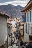 Street Scene in San Blas Neighbourhood  Cuzco  UNESCO World Heritage Site  Peru  South America