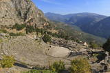 Theatre at Delphi  UNESCO World Heritage Site  Peloponnese  Greece  Europe
