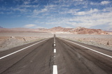Empty Open Road  San Pedro De Atacama Desert  Chile  South America