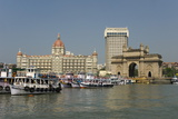 Gateway of India on the Dockside Beside the Taj Mahal Hotel  Mumbai  India  Asia