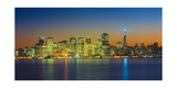 San Francisco Skyline  Panorama 2 - Night View From Treasure Island