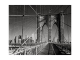 On The Brooklyn Bridge - Arches  Cables  Manhattan View  Day