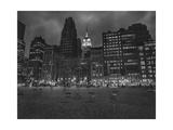 Byrant Park Dusk - Looking South in Bryant Park Manhattan