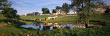Horses Grazing at a Farm  Amish Country  Indiana  USA