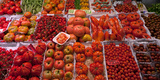 Tomatoes at a Market Stall  Santa Caterina Market  Barcelona  Catalonia  Spain