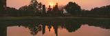 Reflection of Buddha Statue on Water  Sukhothai Historical Park  Sukhothai  Thailand