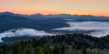 Dawn over the High Peaks from Goodnow Mountain  Adirondack Park  New York State  USA
