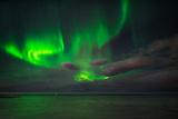 Aurora Borealis or Northern Lights, Reykjavik, Iceland Papier Photo
