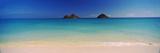 Islands in the Pacific Ocean, Lanikai Beach, Mokulua Islands, Oahu, Hawaii, USA Papier Photo par Panoramic Images