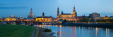 Reflection of Buildings on Water  Dresden Frauenkirche  River Elbe  Dresden  Saxony  Germany