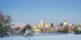 City Park Covered with Snow at Winter  City Park  Denver  Colorado  USA