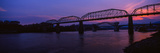 Bridge across a River  Walnut Street Bridge  Tennessee River  Chattanooga  Tennessee  USA