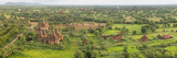 Southern View of Stupas Seen from Top of Tower at Aureum Palace Hotel  Bagan  Mandalay Region
