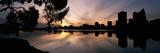 Reflection of Skyscrapers in a Lake  Lake Merritt  Oakland  California  USA