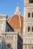Duomo Santa Maria Del Fiore and Giotto's Campanile in Florence  Tuscany  Italy