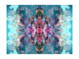 Flower Mandala Gladiolus Blue