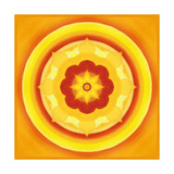 Yellow Blossom Mandala II Painted