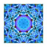 Purple Heart In Blue Universe Mandala