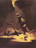 Dinosaures Reproduction d'art par Frank Frazetta