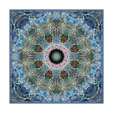 Frosted Blue Leaf Mandala