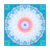 Aqua Light Blossom Circle