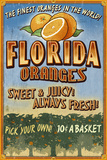 Florida - Orange Grove Vintage Sign