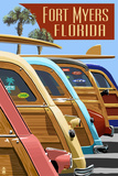 Fort Myers  Florida - Woodies Lined Up