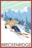 Downhill Skier - Breckenridge  Colorado