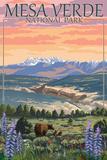 Mesa Verde National Park  Colorado - Bear Family and Flowers