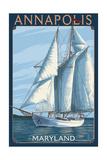 Annapolis  Maryland - Sailboat Scene