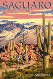 Saguaro National Park  Arizona - Hiking Scene