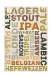 Beer Typography - Types of Beer