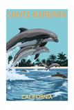 Santa Barbara  California - Dolphins Jumping