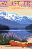 Lake Scene and Canoe - Whistler  Canada