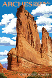 Arches National Park  Utah - Courthouse Towers