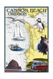 Cannon Beach  Oregon - Nautical Chart