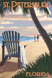 St Petersburg  Florida - Adirondack Chair on the Beach