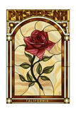 Pasadena  California - Rose Stained Glass