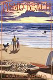 Pismo Beach  California - Beach and Sunset