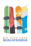 Big Bear Lake - California - Snowboards in Snow