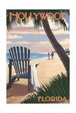 Hollywood  Florida - Adirondack Chair on the Beach