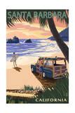 Santa Barbara  California - Woody on Beach